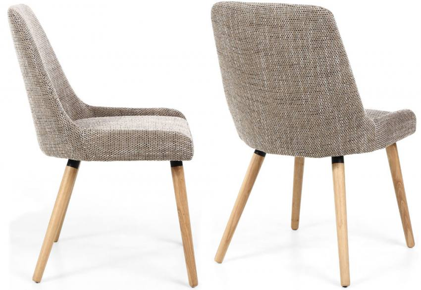 Shankar - Capri Tweed Oatmeal Dining Chair Product Image