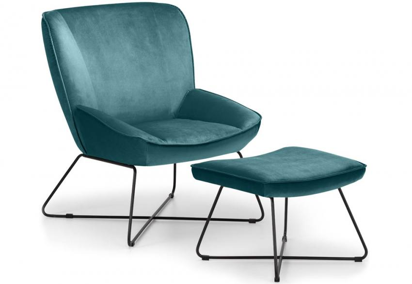 Julian Bowen - Mila Accent Chair & Footstool Product Image