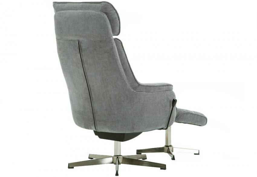 GFA - Auckland Fabric Rocker Swivel Recliner & Footstool Product Image