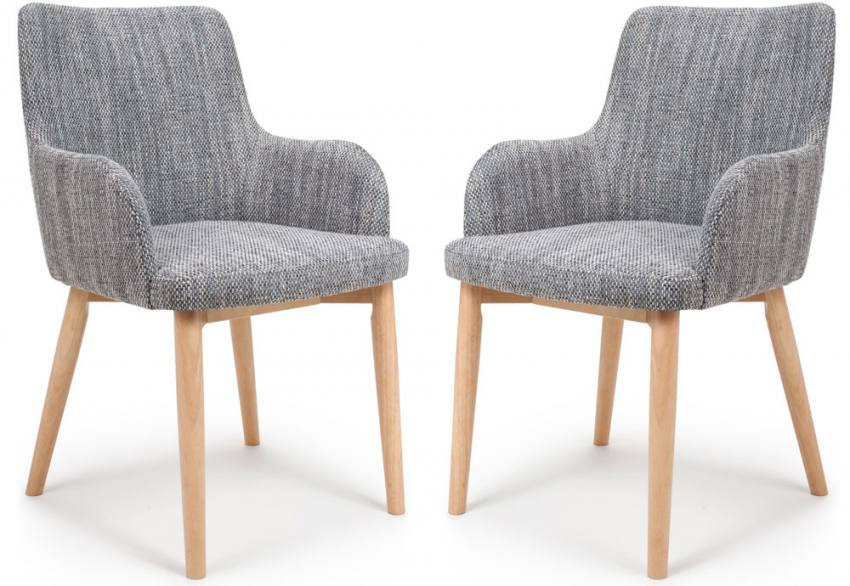 Shankar - Sidcup Grey Tweed Fabric Chair Product Image
