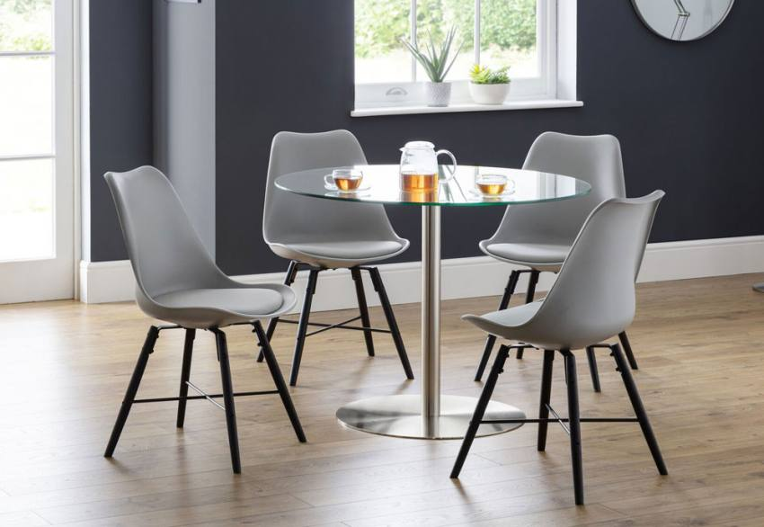 Cool Julian Bowen Kari Dining Chairs Grey Black White Caraccident5 Cool Chair Designs And Ideas Caraccident5Info
