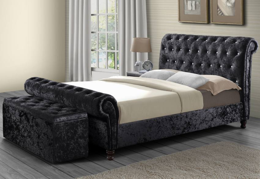 Birlea Furniture Bordeaux Upholstered Beds Crystal