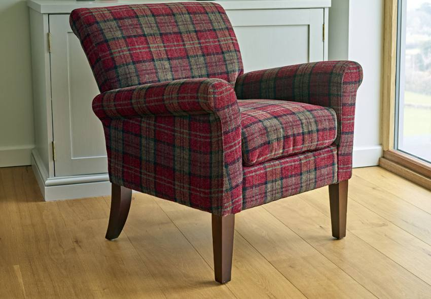 Gfa Blenheim Occasional Chair Dark Wood Tapered Legs