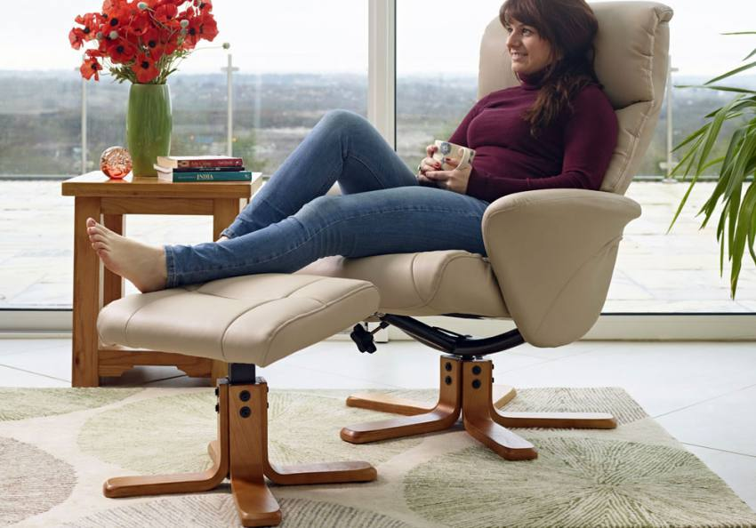 GFA - Marseilles Swivel Recliner & Footstool Product Image