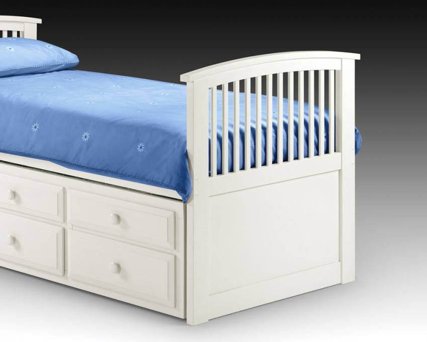 Julian Bowen Hornblower White Cabin Bed With Guest